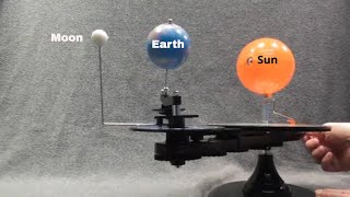 Phases of moon explained using an orrery