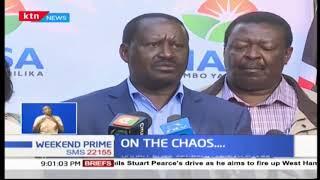 President Uhuru, Ruto condemn Friday chaos