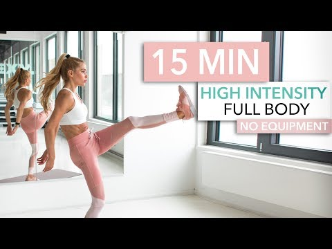 15 MIN FULL BODY HIIT WORKOUT – burn lots of calories