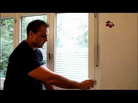selbsthaftende Fensterfolien verkleben