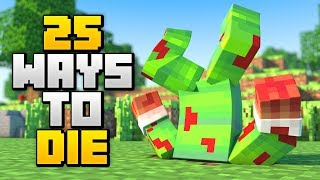 25 BRUTAL WAYS TO DIE IN MINECRAFT!