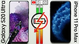 Samsung Galaxy S20 Ultra vs Apple iPhone 11 Pro Max Battery Test