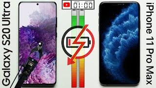 Samsung Galaxy S20 Ultra vs Apple iPhone 11 Pro Max Battery Test