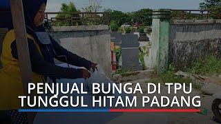Pengunjung TPU Tunggul Hitam Sepi, Omset Penjual Bunga Menurun