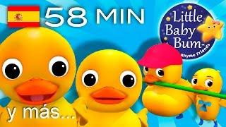 Seis patitos | Y muchas más canciones infantiles | ¡LittleBabyBum!