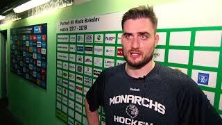 Интервью игроков после матча с ХК «Млада Болеслав»