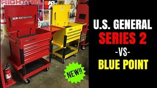 "NEW!! U.S. General SERIES 2 30"" Tool Cart -vs- BLUE POINT (HARBOR FREIGHT -vs- SNAP-ON)"