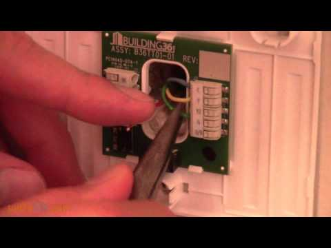 How to install an ADCT2000 Alarm.com Smart Thermostatwith a 2GIG Go!Control System