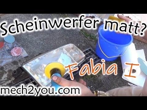 🛠️ Matte Scheinwerfer schleifen und polieren Skoda Fabia 6Y Teil 1