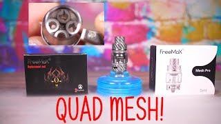 New FreeMax QUAD Mesh Coils! Are they any GOOD? VapingwithTwisted420