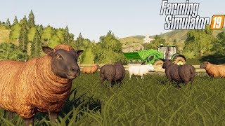 TENDING TO 100 HEAD OF SHEEP | SHEEP PASTURE | FARMING SIMULATOR 2019