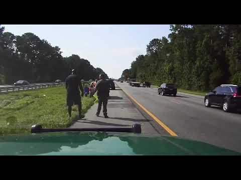 Shaquille O'Neal witnessed a traffic accident on the Interstate so he pulled over to help until deputies arrived
