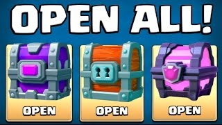 OPENING ALL CHESTS! :: Clash Royale :: MAGICAL CHEST / EPIC CHEST AND GIANT CHEST