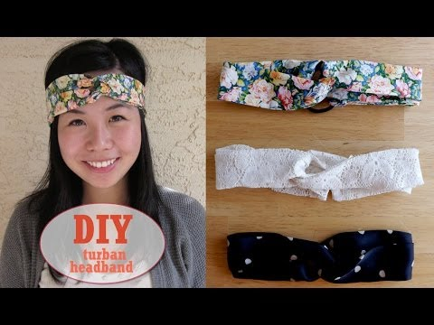 DIY: How to Sew an Easy Turban Headband Tutorial {Sew Easy Please}