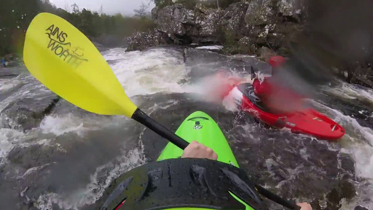 Outdoor and Adventure Sport students Kayaking in Scotland