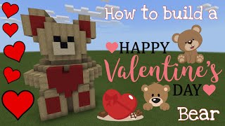 How to build a Valentine's Bear in Minecraft!! (Valentines Day Special)