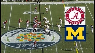 Michigan vs Alabama Football Bowl Game 1 1 2020