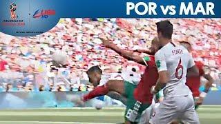 2018 FIFA: Cristiano Ronaldo strikes early vs Morocco with marvelous header!