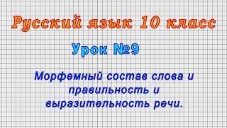 Русский язык 10 класс Урок 9