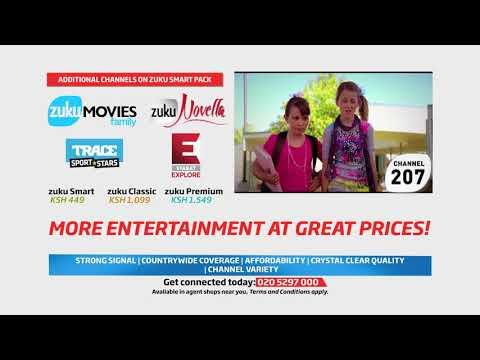 Additional channels on Zuku Smart Pack