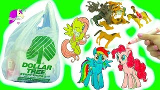 Dollar Tree Store Haul - My Little Pony MLP Crafts, Fairy Dolls, Toy Horses + More