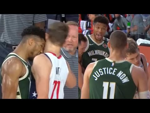 Giannis Antetokounmpo headbutt Moe Wagner & gets ejected from game | Bucks vs Wizards