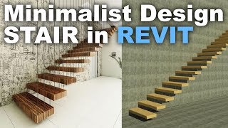 Minimalist Stair Design In Revit Tutorial