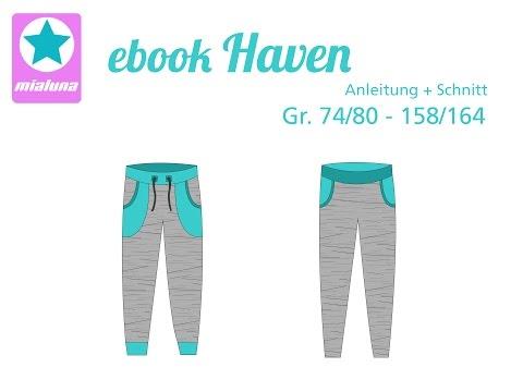 Nähanleitung Sweathose Haven, Lady Haven und Mister Haven