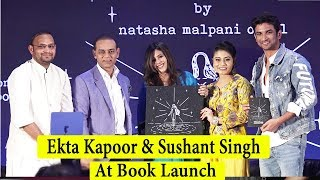 Sushant Singh Rajput & Ekta Kapoor At Book Launch Of Natasha Malpani Oswal 'Boundless.
