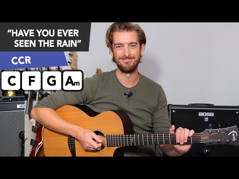 'HAVE YOU EVER SEEN THE RAIN?' Acoustic Guitar Tutorial // CCR John Fogerty