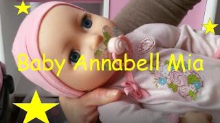 Zapf Creation Baby Annabell Mia so soft, Puppe, Muñeca, Doll, Maxi Cosi, Puppenbett,