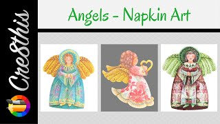 DIY Angel Ornaments Using Napkins