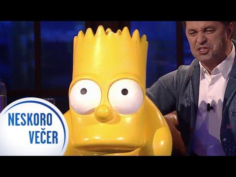 Bart Simpson s hlasom Martina Dejdara v Neskoro Večer