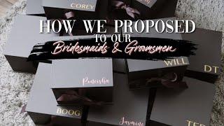 We Proposed! DIY Bridal Party Boxes | Tamra Sade