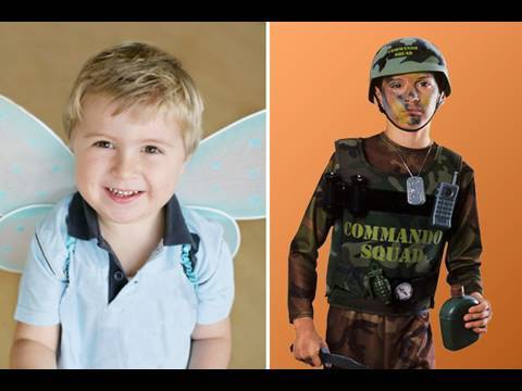 Výběr kostýmu pro přitepleného syna - The Onion