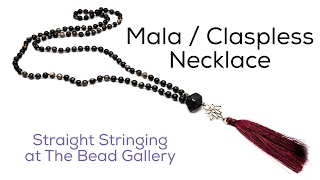Making a Simple Mala / Claspless Necklace at The Bead Gallery