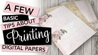 BASIC TIPS To Print Digital Papers For Crafting | TUTORIAL