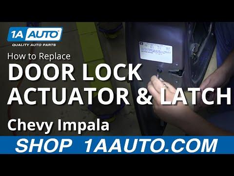 How To Install Replace Front Power Door Lock Actuator Latch