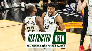 All-Access: NBA Finals Game 5 | Bucks Beat Suns, Lead 3-2 | Valley Oop | Giannis Postgame Message