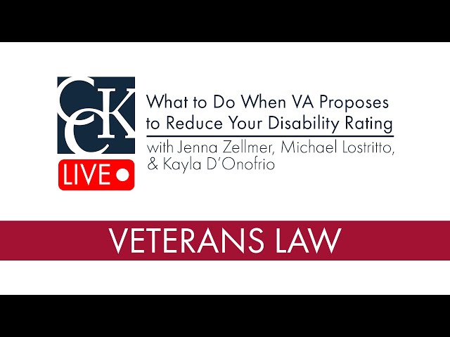 What to Do When VA Proposes to Reduce Your Disability Rating