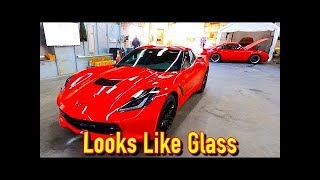 Auto Spa LLC Paint Corrects and Coats the 2019 Corvette Stingray - There is Paint Damage!