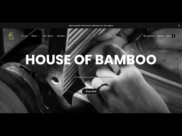 E Commerce House of Bamboo by Cerostech