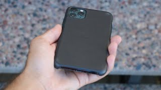 Apple iPhone 11 Pro Max Black Leather Case Review!