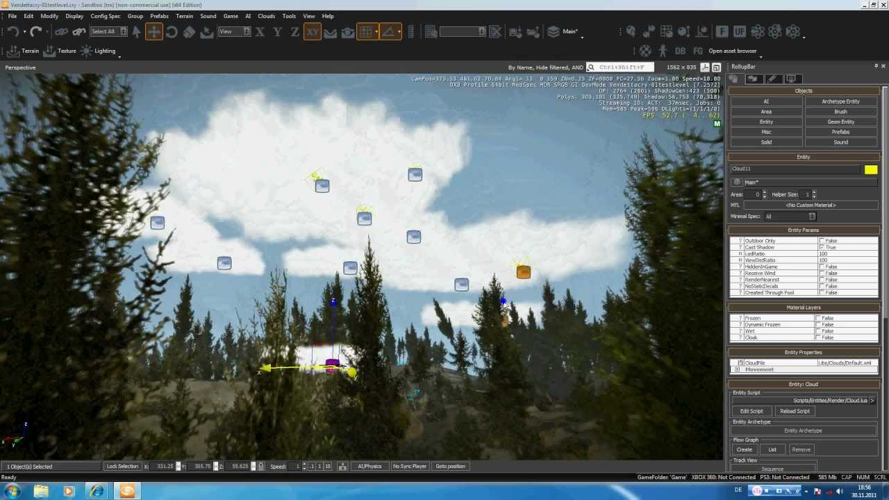 Cryengine 3 Tutorial 09 Clouds & Rain (VendettaCry)