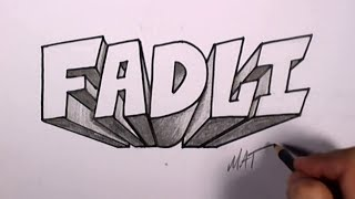 Graffiti Writing Fadli Name Design #49 in 50 Names Promotion