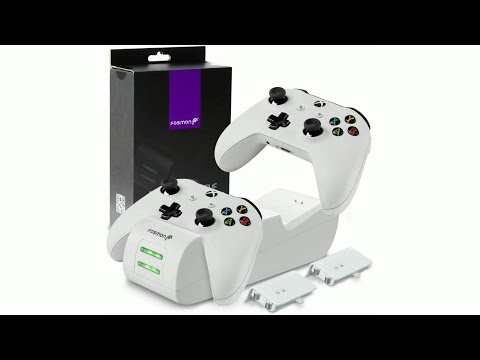 Fosmon Xbox One/One X/One S/One Elite Dual Controller Charger, [Dual Slot] High Speed Docking