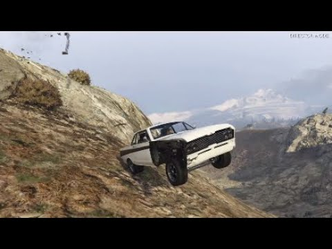 GTA 5 - Driving Classic Cars Off Mt Chiliad! (HD)