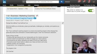 """LinkedIn Training: How To Write Your """"Job Positions"""" or Experience"""