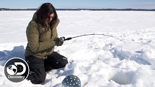 Ice Fishing with Jane and Atz Lee Kilcher | Alaska: The Last Frontier