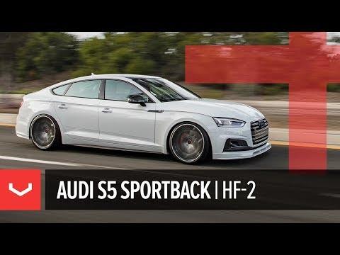 Vossen Hybrid Forged HF-2 Wheel | Audi S5 Sportback | Brushed Gloss Black